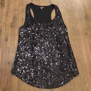 ❤️GUESS Black Sequin Top